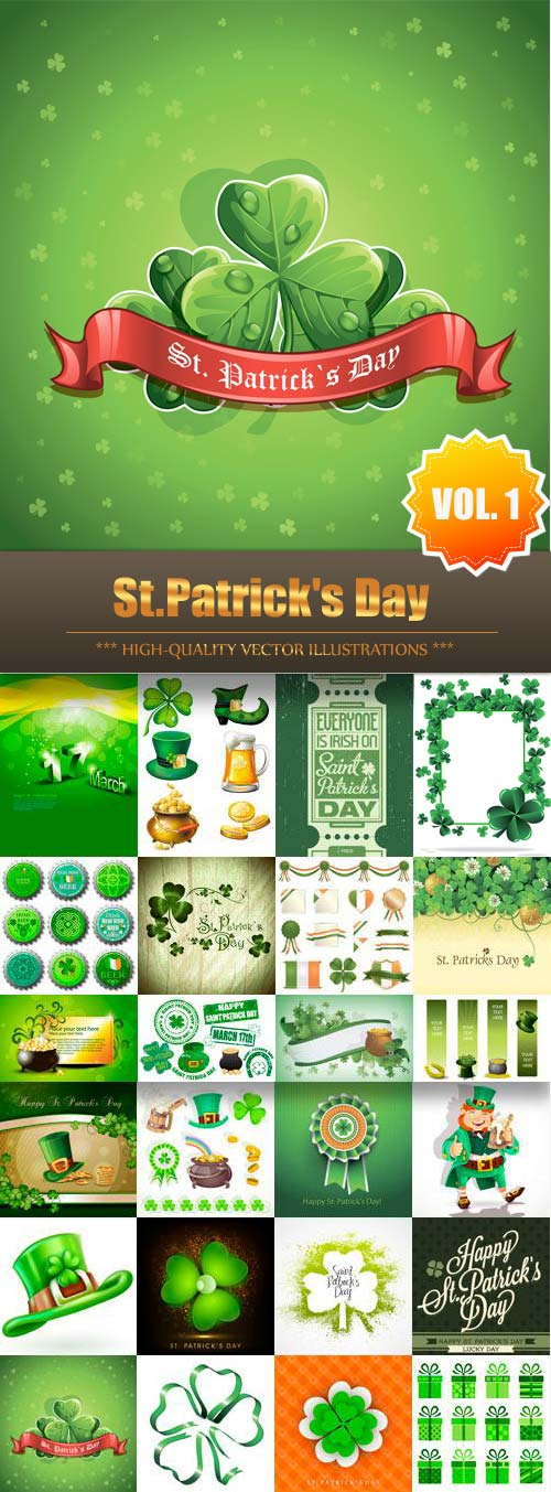 St.Patrick's Day Vector Collection (Vol.1)