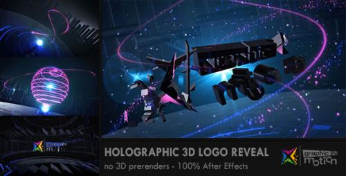 Holographic 3D Logo Reveal - After Effects Project (Videohive)