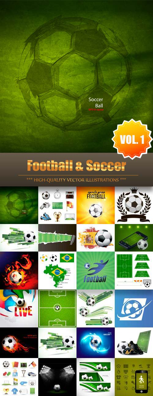 Football Soccer Vector Collection (Vol.1)