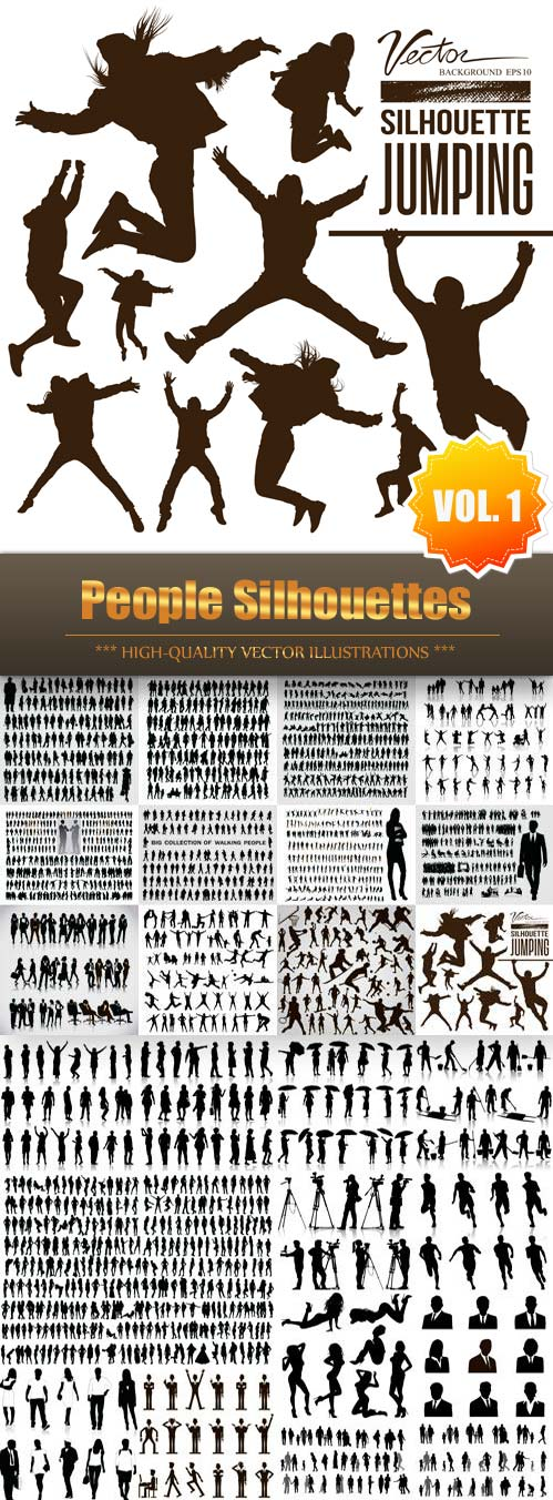 People Silhouettes Vector Collection (Vol.1)