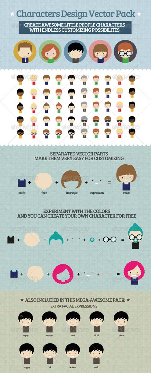 GraphicRiver Characters Design Vector Pack