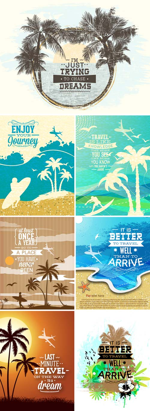 InkyDeals - 30 Travel Vector Illustrations