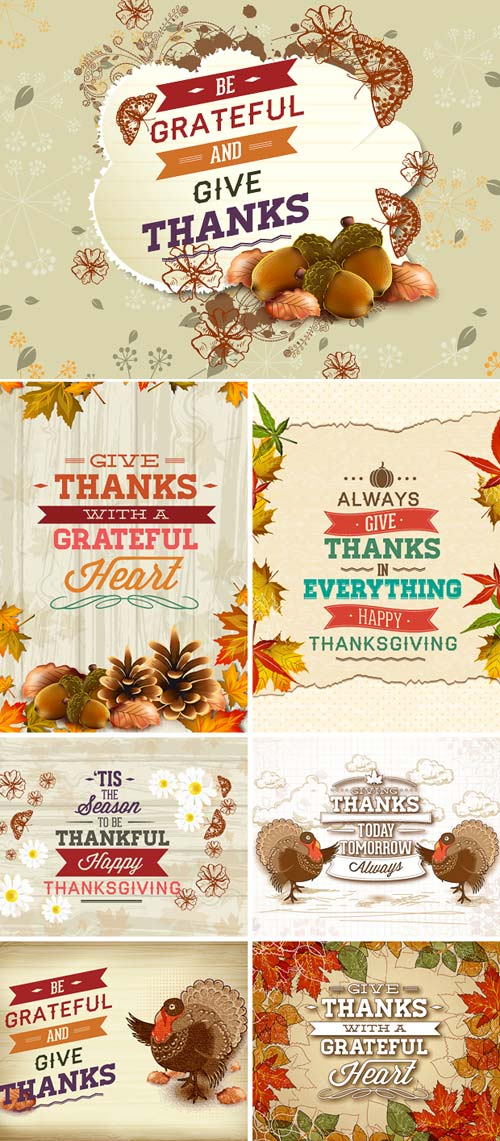 InkyDeals - 30 Thanksgiving Vector Illustrations