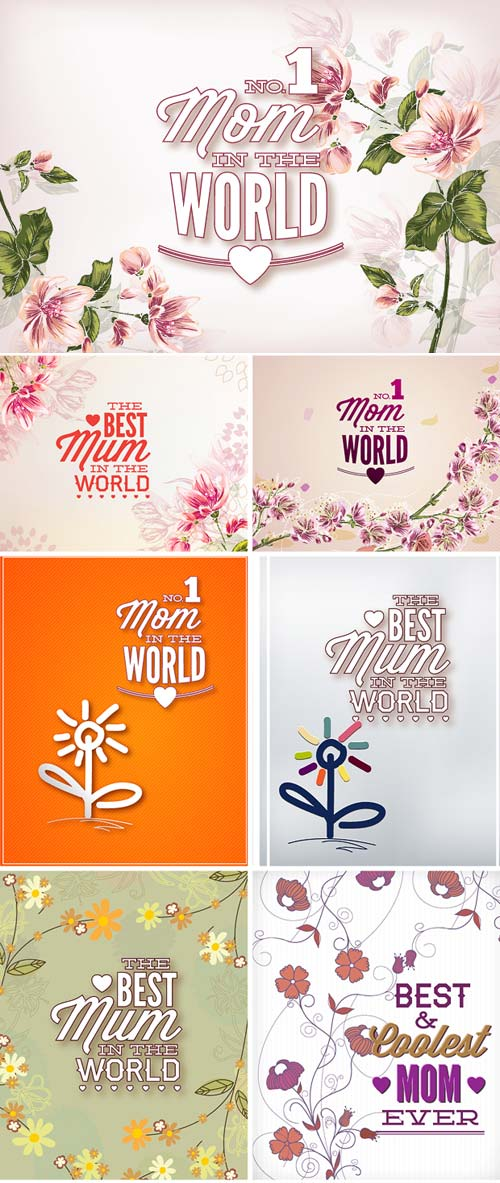 InkyDeals - 30 Mother's Day Vector Illustrations