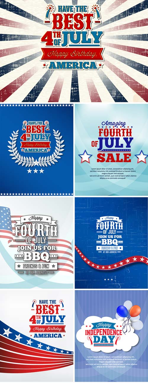 InkyDeals - 30 Independence Day Vector Illustrations