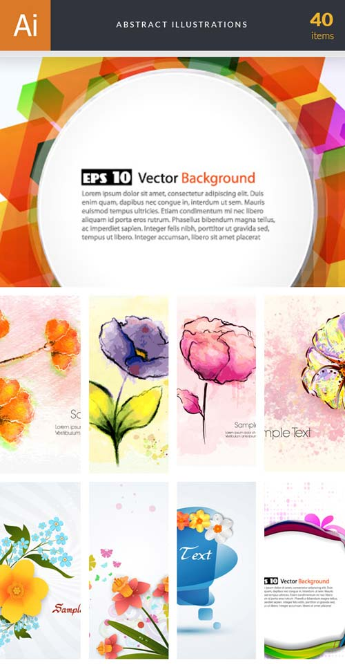 InkyDeals - 40 Abstract Illustrations