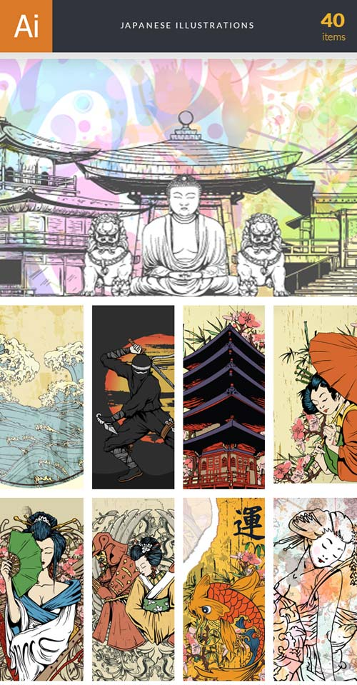 InkyDeals - 40 Japanese Illustrations
