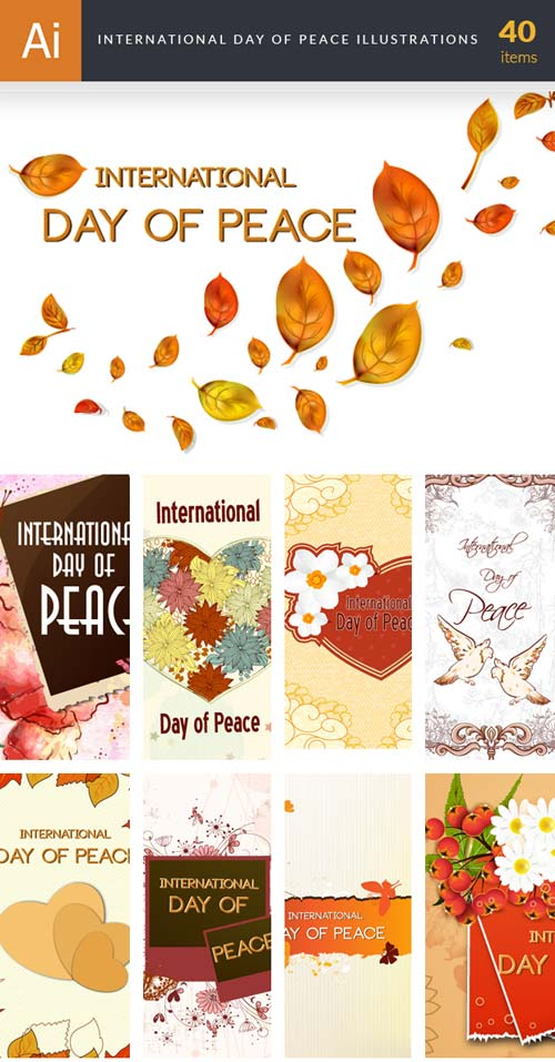 InkyDeals - 40 International Day of Peace Illustrations