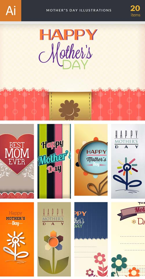InkyDeals - 20 Mother's Day Illustrations