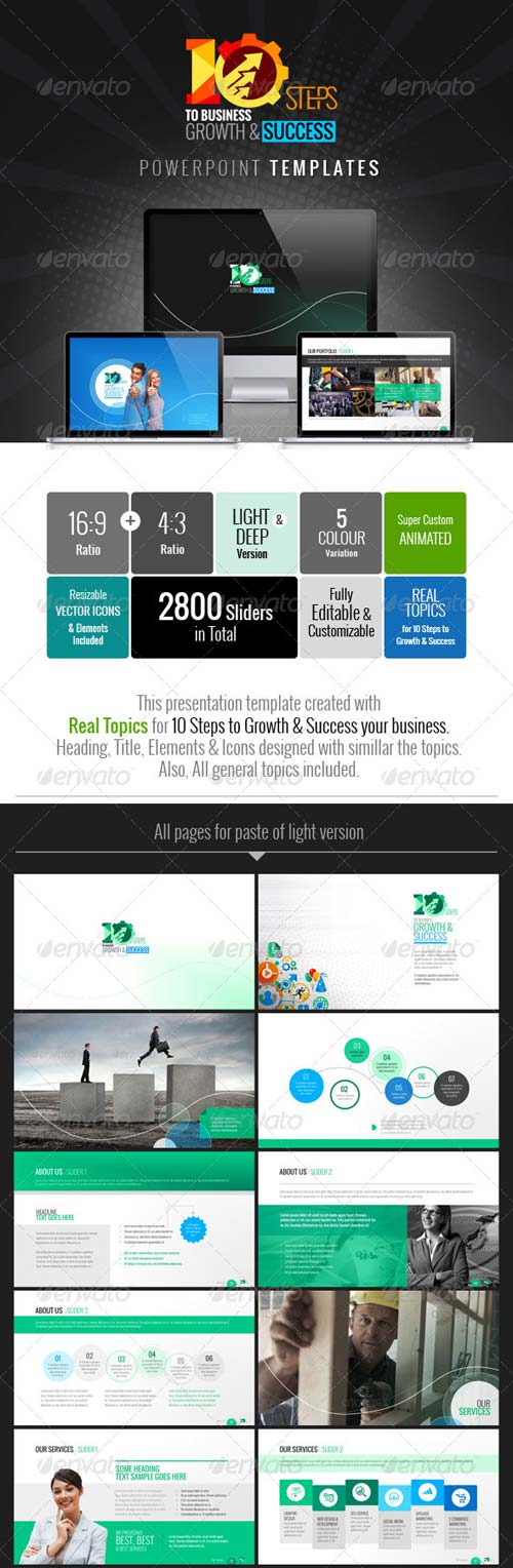 GraphicRiver 10 Steps to Business Growth & Success Template