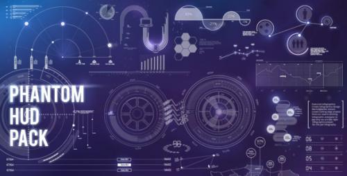 Phantom HUD Infographic - After Effects Motion Graphics (Videohive)
