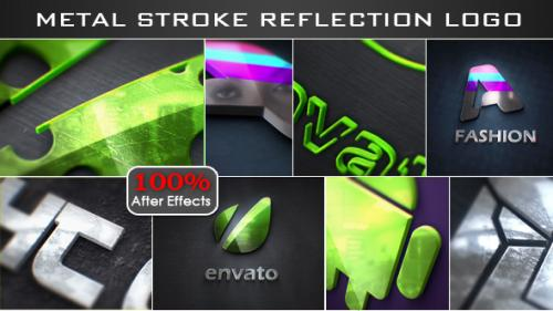 Stroke Metal Reflection Logo - After Effects Project (Videohive)