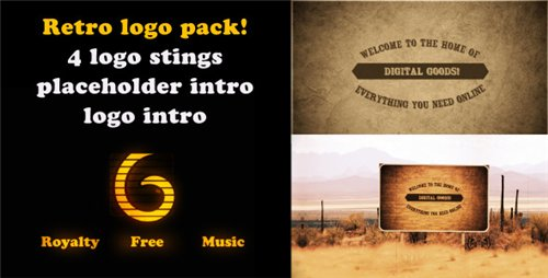 Retro Logo intro pack - After Effects Project (Videohive)