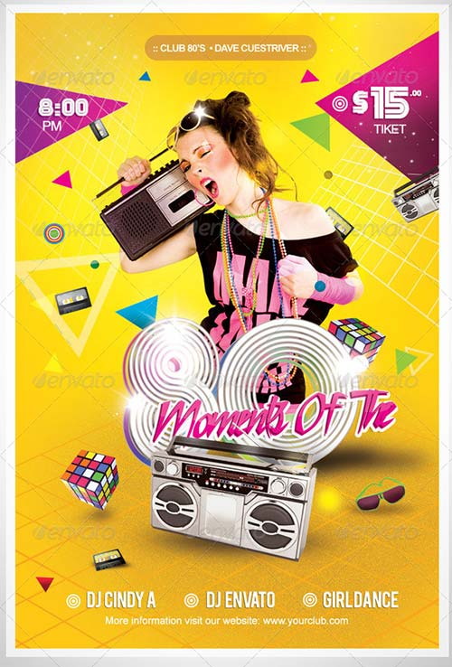 GraphicRiver Flyer Moments Of The 80's