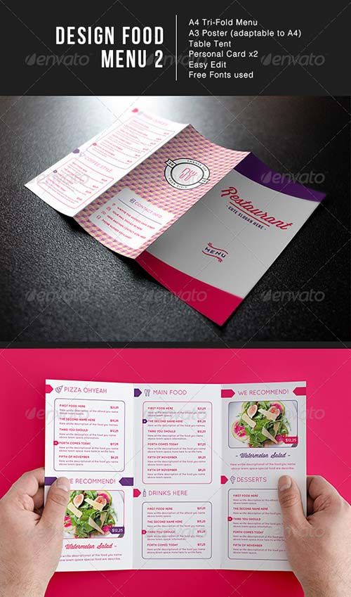 GraphicRiver Design Food Menu 2