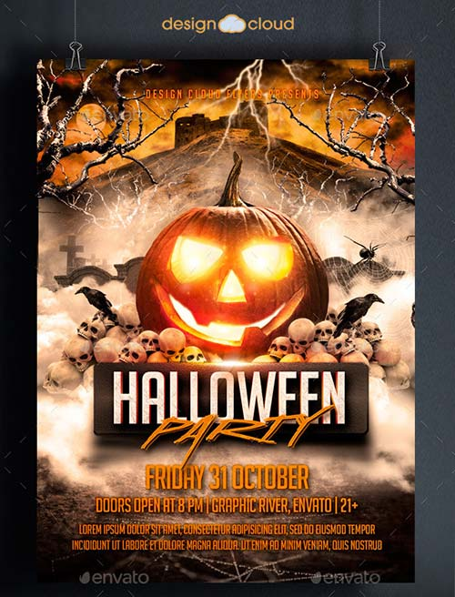 graphicriver halloween party flyer template 8915370. Black Bedroom Furniture Sets. Home Design Ideas