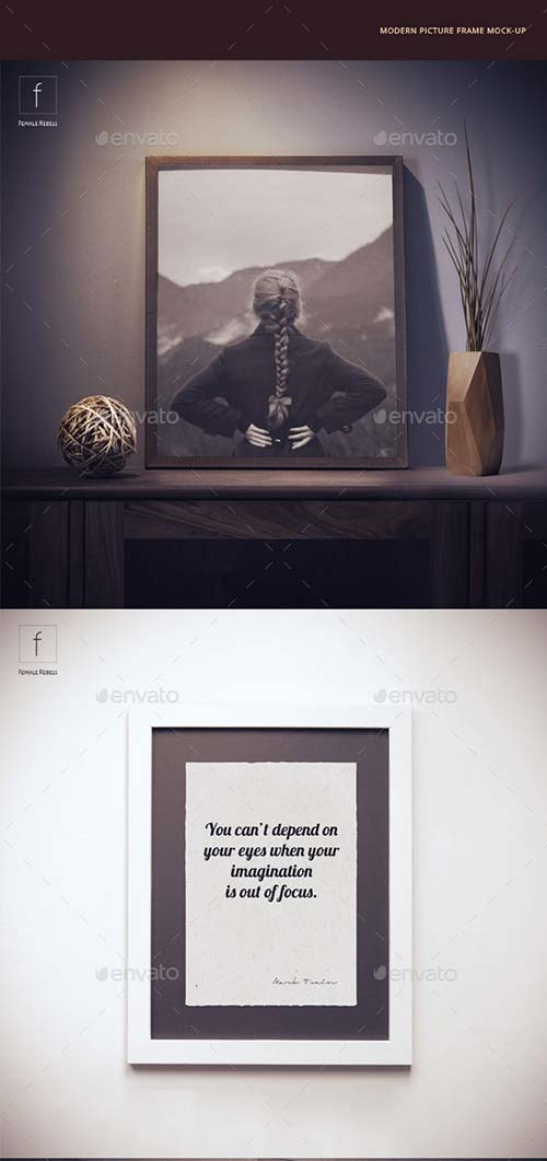GraphicRiver Modern Picture Frame Mock-up