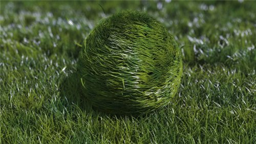 Bouncy Grass Ball Logo Reveal - After Effects Project (Videohive)