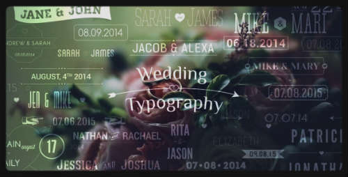 Wedding Typography Titles - Dates and Names - After Effects Project (Videohive)