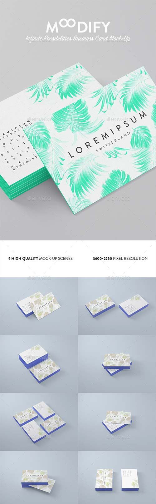 GraphicRiver Moodify / Infinite Possibilities Card Mock-Up