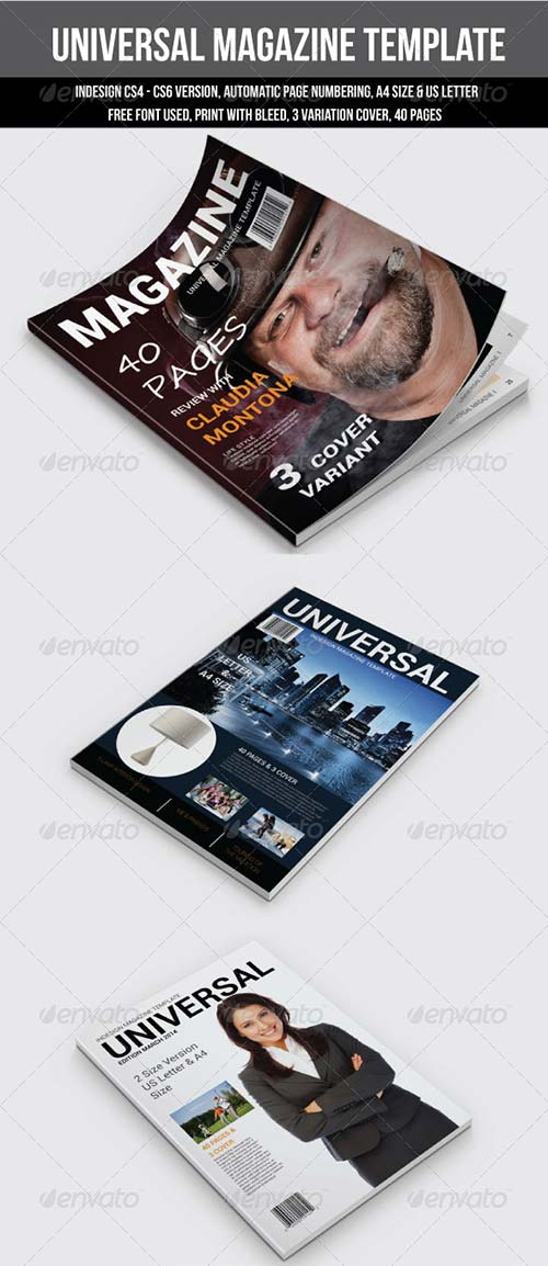 GraphicRiver Universal Magazine Template