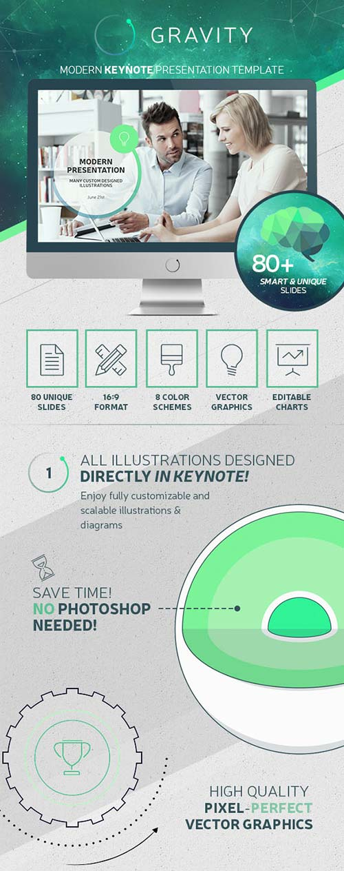 GraphicRiver Gravity Keynote - Modern Presentation Template