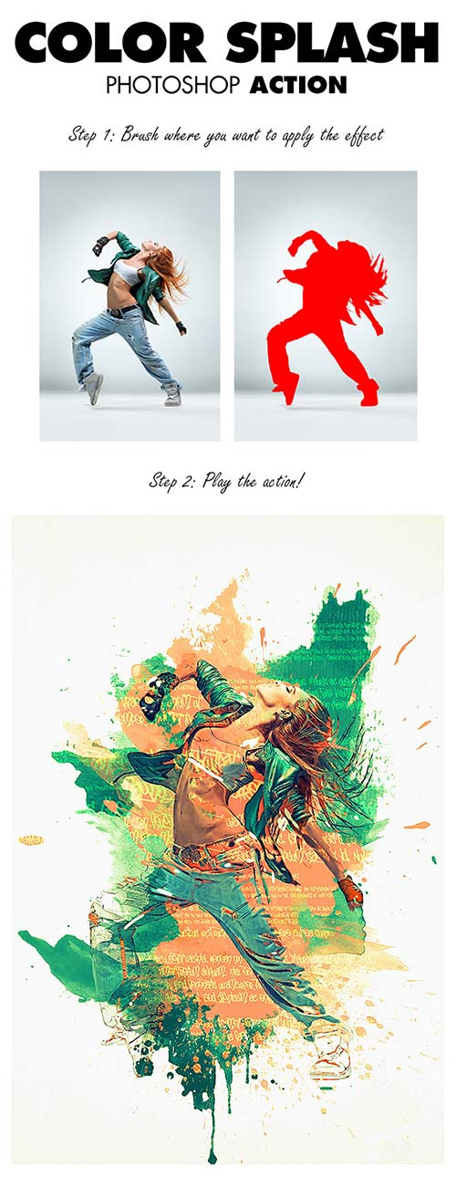 GraphicRiver Color Splash Photoshop Action