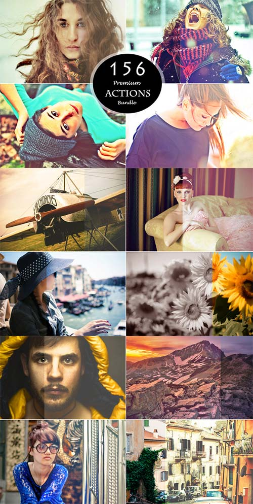 CreativeMarket 156 PS Actions Bundle
