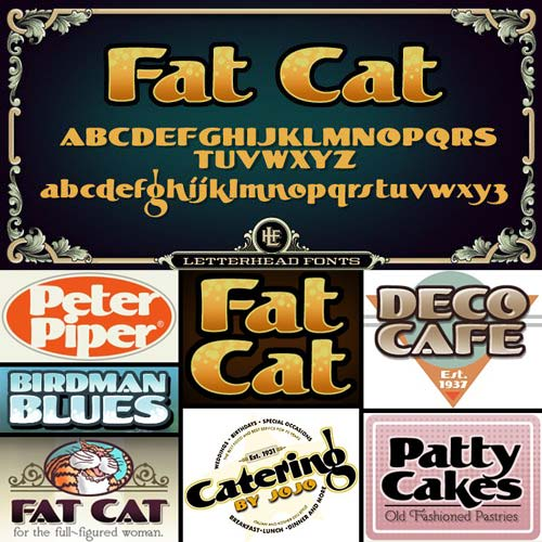 LHF Fat Cat Font Family