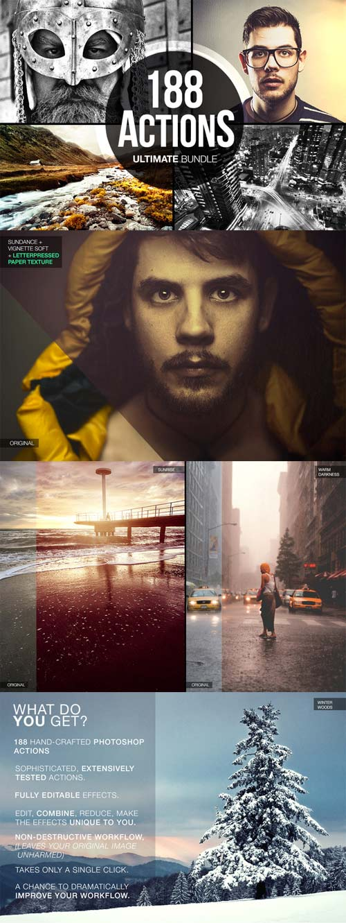 CreativeMarket 188 Actions Ultimate Bundle