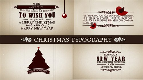 Christmas Typography - After Effects Project (Videohive)