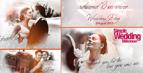 Simple Wedding Slideshow - After Effects Project (Videohive)