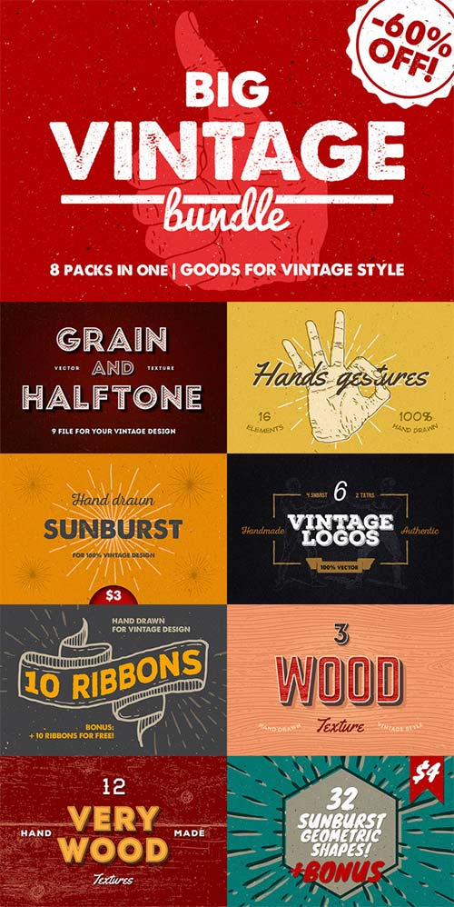 CreativeMarket Big Vintage Bundle