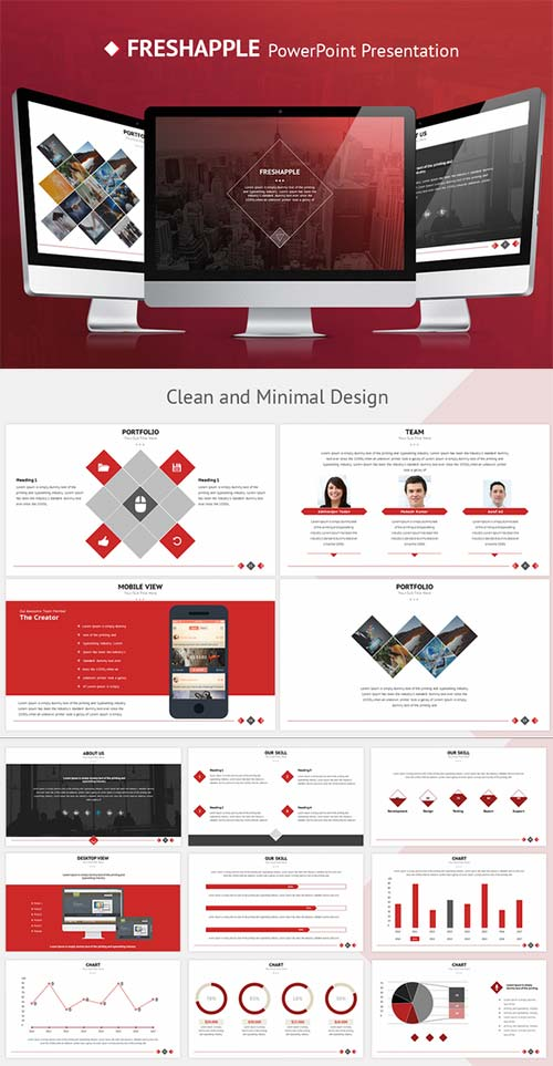 CreativeMarket FRESHAPPLE PowerPoint Presentation