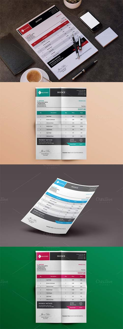 CreativeMarket Simple & Clean Invoice