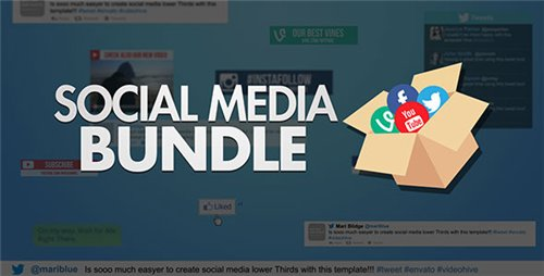 Social Media Bundle - After Effects Project (Videohive)