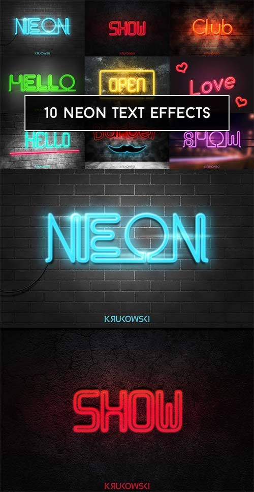 CreativeMarket Neon Text Effects