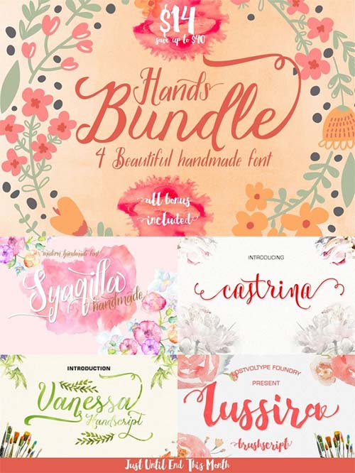 Hands Fonts Bundle