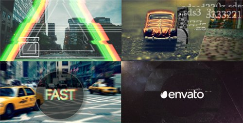 Fast Glitch Logo Opener - After Effects Project (Videohive)
