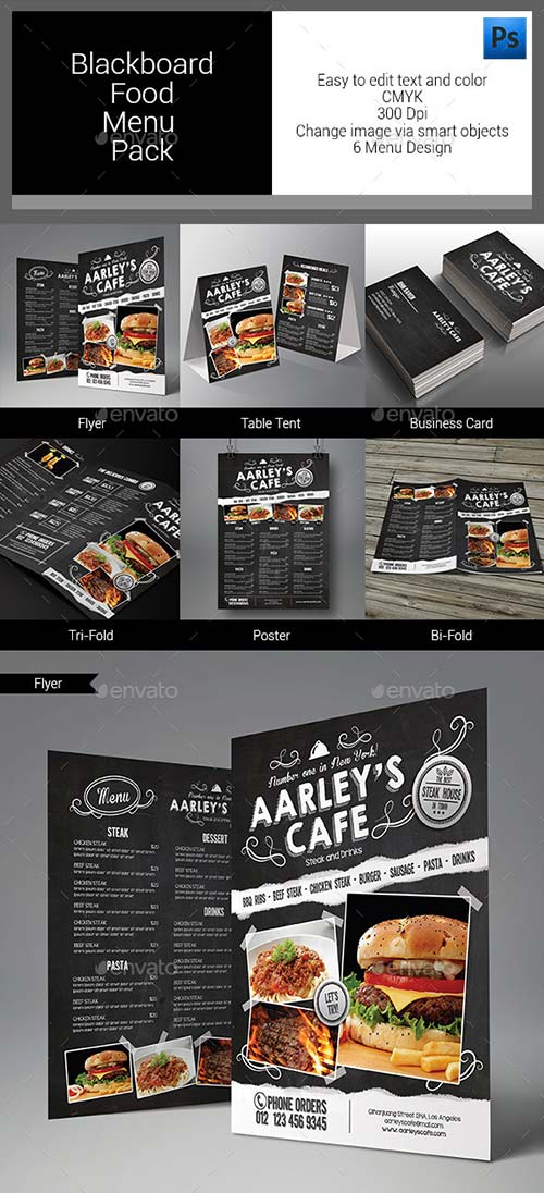 GraphicRiver Blackboard Food Menu Bundle