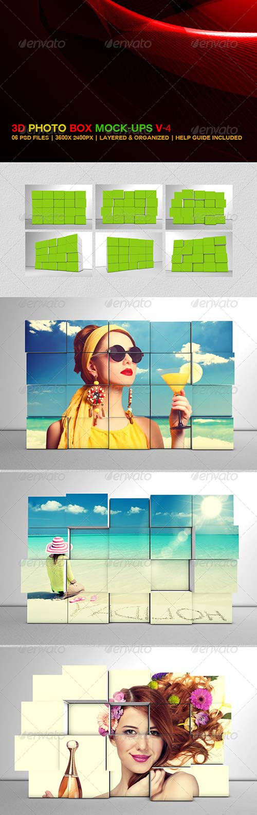 GraphicRiver 3D Photo Box Mockups V-4