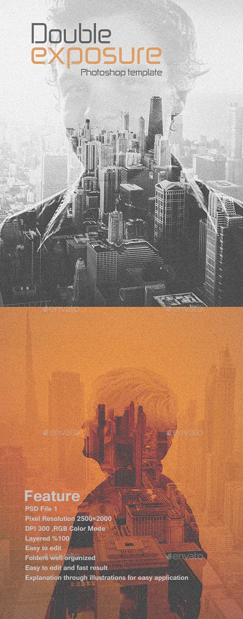 GraphicRiver Double Exposure Photoshop Template