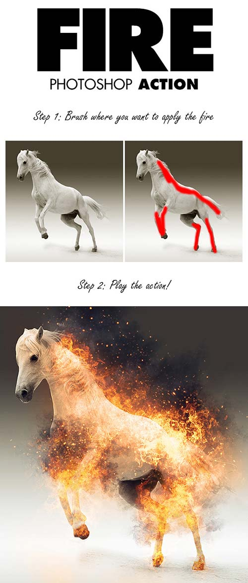 GraphicRiver Fire Photoshop Action