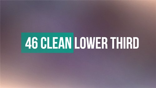 46 Clean Lower Third - After Effects Project (Videohive)
