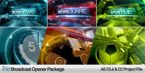 Trio Broadcast Openers Package - After Effects Project (Videohive)