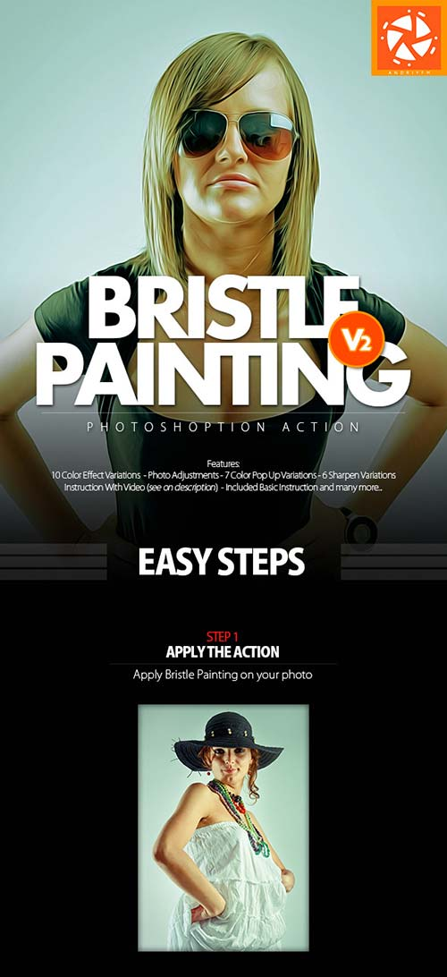 GraphicRiver Bristle Painting 2 Action