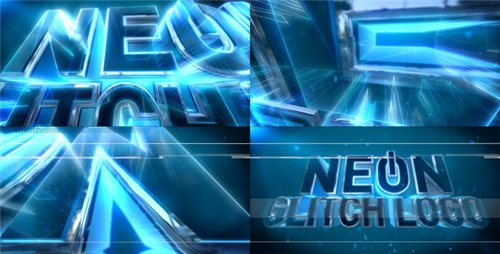 Neon Glitch Logo - After Effects Project (Videohive)