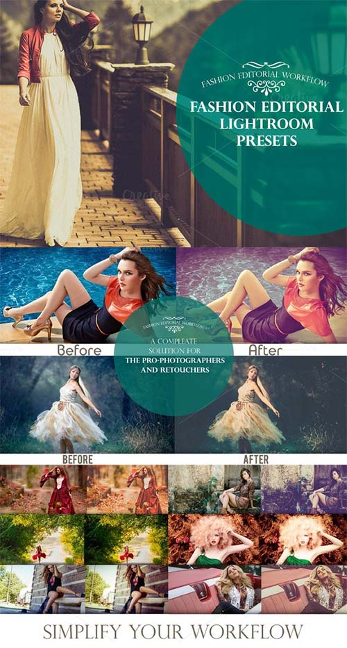 CreativeMarket Fashion Editorial Lightroom Presets