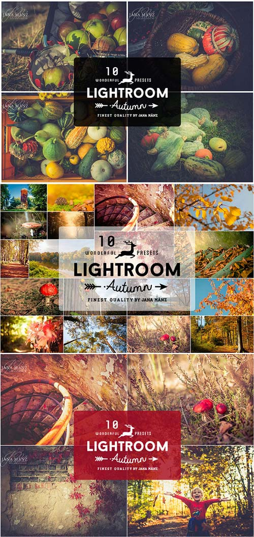 CreativeMarket 10 Autumn Vintage Lightroom Presets