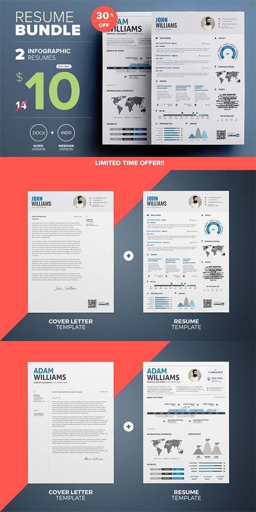 CreativeMarket Infographic Resume - Mini Bundle